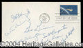 Autographs, Mercury 7 Crew Signed First Day Cover