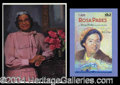 Autographs, Rosa Parks Signed Book & Photo Lot