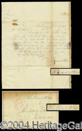 Autographs, Franklin Pierce Handwritten Letter Signed