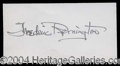 Autographs, Frederic Remington Rare Signature Card