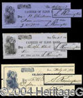 Autographs, Samuel Remington Signed Check Lot (3)