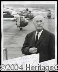 Autographs, Igor Sikorsky Signed 8 x 10 Photo