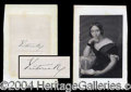 Autographs, Queen Victoria Ink Signature