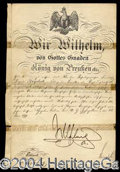 Autographs, Kaiser Wilhelm II Signed Appointment c.1899
