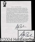 Autographs, George W. Bush Signed Gettysburg Address