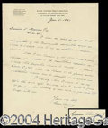 Autographs, Grover Cleveland Handwritten Letter Signed