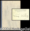 Autographs, Calvin Coolidge Signed Limited Edition Book