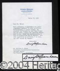 Autographs, Dwight Eisenhower Typed Letter Signed