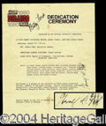 Autographs, Gerald and Betty Ford Signed Document