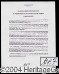 Autographs, Gerald R. Ford Signed Mock Nixon Pardon