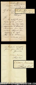 Autographs, Andrew Johnson Signed Letter as President