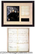 Autographs, Andrew Jackson Document Signed as President