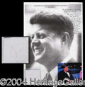 Autographs, (John F. Kennedy) Three Strands of Hair!