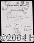 Autographs, John F. Kennedy Handwritten Note Sheet