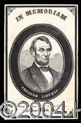 Autographs, (Abraham Lincoln) Memorial Card