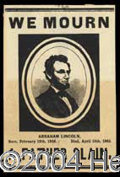 Autographs, (Abraham Lincoln) Mourning Card