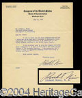 Autographs, Richard Nixon Typed Letter Signed