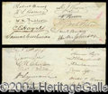 Autographs, Franklin Pierce Signed Congressional Petition