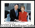 Autographs, Ronald and Nancy Reagan Signed 8 x 10 Photo