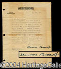 Autographs, Theodore Roosevelt Nice Typed Letter Signed