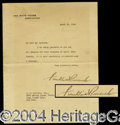 Autographs, Franklin D. Roosevelt TLS Signed as President