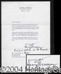 Autographs, Harry Truman Typed Letter Signed w/ Note