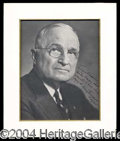 Autographs, Harry Truman Signed 8 x 10 Photo
