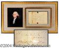 Autographs, George Washington Free Franked Document