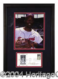 Autographs, Hank Aaron Signed FDC Display