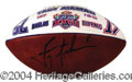 Autographs, Troy Aikman Hand Painted Signed Football