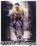 Autographs, Lance Armstrong Rare Signed 8 x 10 Photo