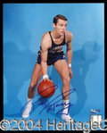 Autographs, Rick Barry Signed 8 x 10 Color Photo