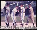 Autographs, Mays, Mantle, Dimaggio & Snider Signed 8 x 10