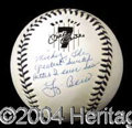 Autographs, Yogi Berra Unique Signed Mantle Baseball