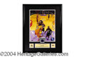 Autographs, Kobe Bryant Laker Jersey Swatch Display