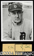 Autographs, Ty Cobb Signed Postcard