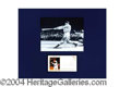 Autographs, Joe DiMaggio Signed FDC Display