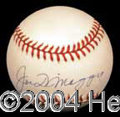 Autographs, Joe DiMaggio Signed Baseball