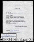 Autographs, Joe DiMaggio Rare Signed Document