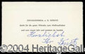 Autographs, Karl Donitz Signed German Personal Card