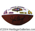 Autographs, John Elway Hand Painted Signed Football