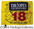 Autographs, 2002 British Open Championships Signed Flag