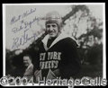 Autographs, Red Grange Signed 8 x 10 Photo