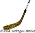 Autographs, 2002 NHL All-Stars Signed Hockey Stick