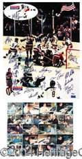 Autographs, The 1980 U.S. Hockey Team Signed 16 x 20 Photo
