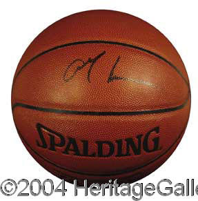 207adb98d69 Allen Iverson Signed NBA Basketball Autographs | Lot #944 | Heritage ...