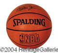 Autographs, Magic Johnson Signed NBA Basketball