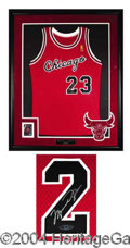 Autographs, Michael Jordan Signed Jersey Display PSA/DNA