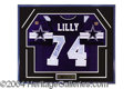 Autographs, Bob Lilly Dallas Cowboys Signed Jersey Display