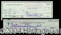 Autographs, Vince Lombardi Signed Bank Check